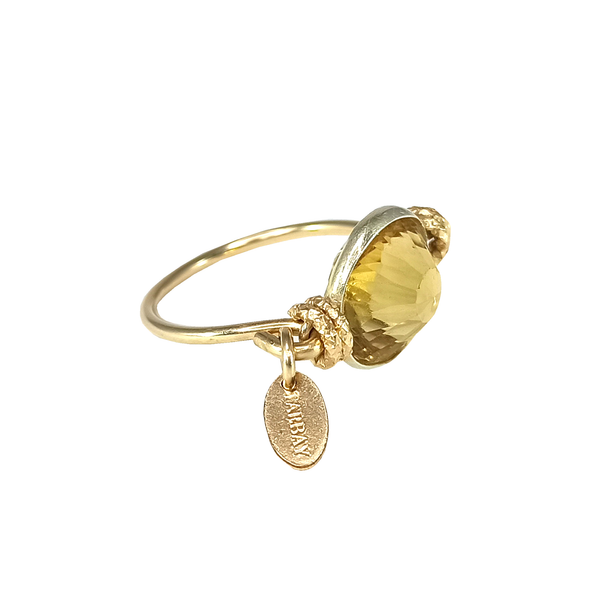 Munic Solitaire Ring - Citrine - TARBAY
