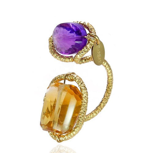 Serpentina Purple And Yellow Ring - TARBAY
