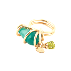 Domenica Ring - Green Onyx & Peridot - TARBAY