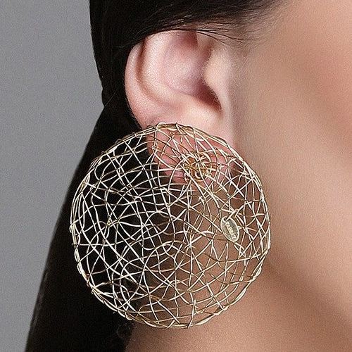 Aura Earrings #1 (50mm) - Yellow Gold