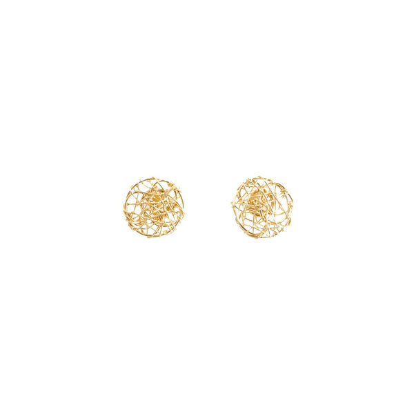 Aura Earrings #1 (10mm) - Yellow Gold - TARBAY
