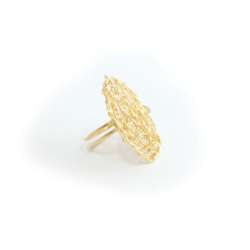 Aura Ring #1 (40mm) - Yellow Gold - TARBAY
