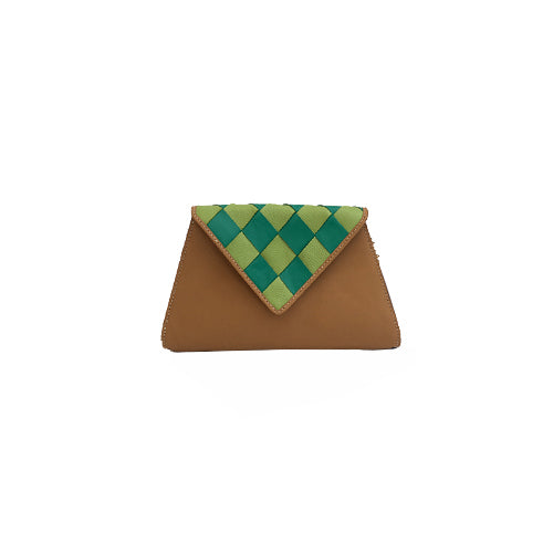 Entramado Green Clutch