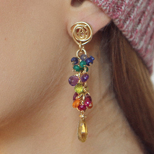 Rulo Colored Earrings
