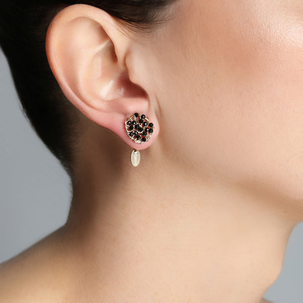 Aura 10mm Black Earring