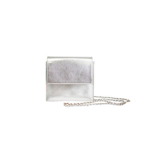 Palermo Clutch Bag - Silver