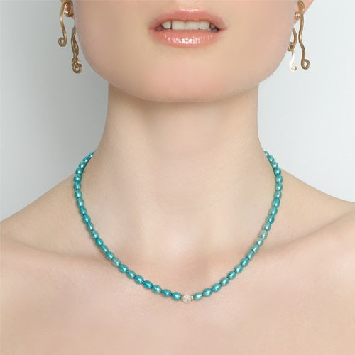 Margaritiferas Aqua Necklace