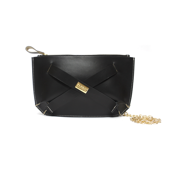 Tajali Genuine Leather Clutch Bag - Black