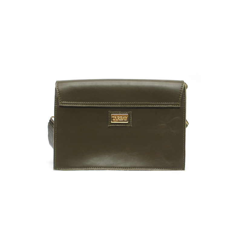 Helecho Leather Flap Bag