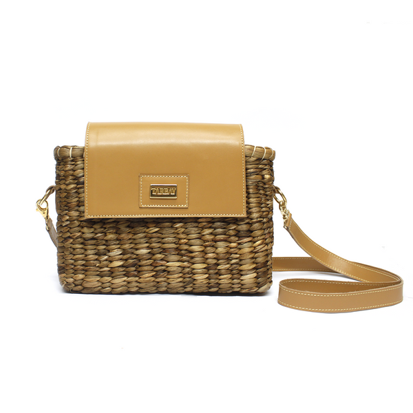 Warao Leather Flap Bag - Caramel - TARBAY