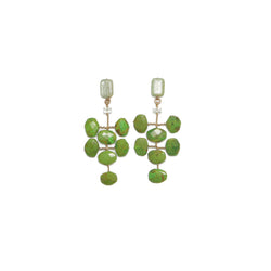 Adasan Earring - Green Knite