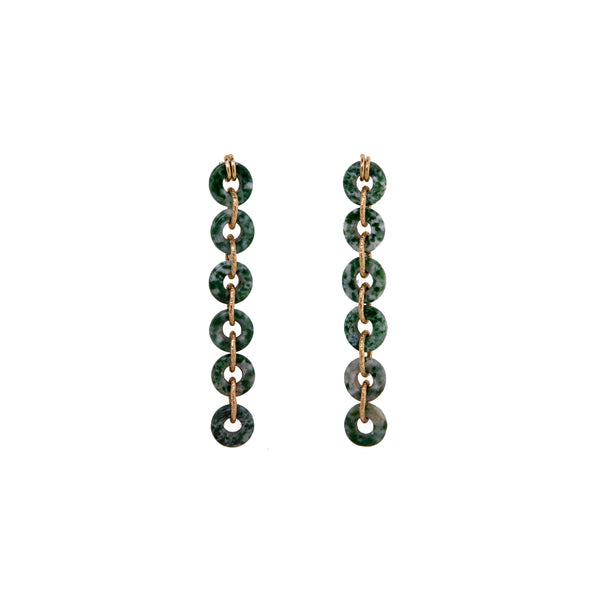 Mojobo Dangle Earrings - Jasper