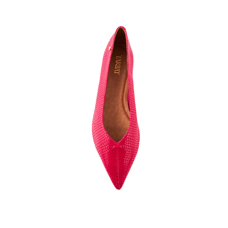 Grove Leather Flat Shoes - Viper Pink - TARBAY