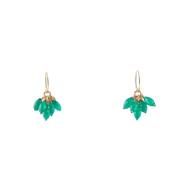 Fabi Dangle Earrings - Green Onyx - TARBAY