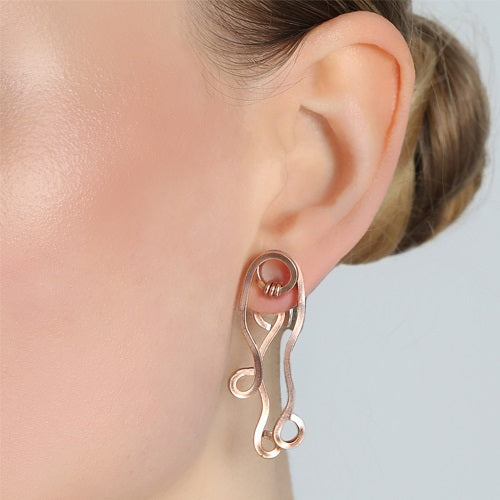 Algas Short Dangle Earrings