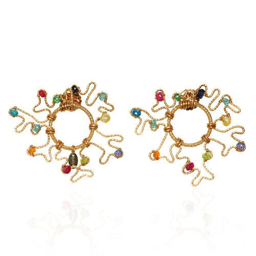 Gorgonia Colored Earring