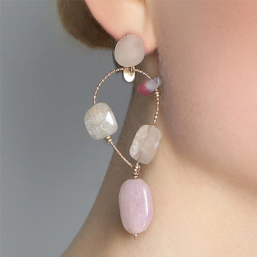 Nautiluis Pink Earrings (2mammographies)