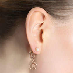 Alvania Earrings- Pearl