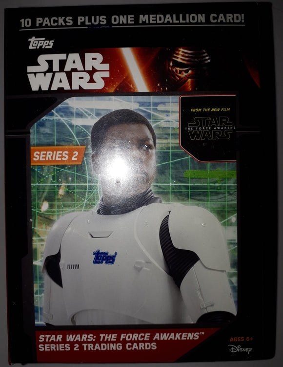 Star Wars The Force Awakens Series 2 Factory Sealed box 10 Pack Plus 1 Medallion