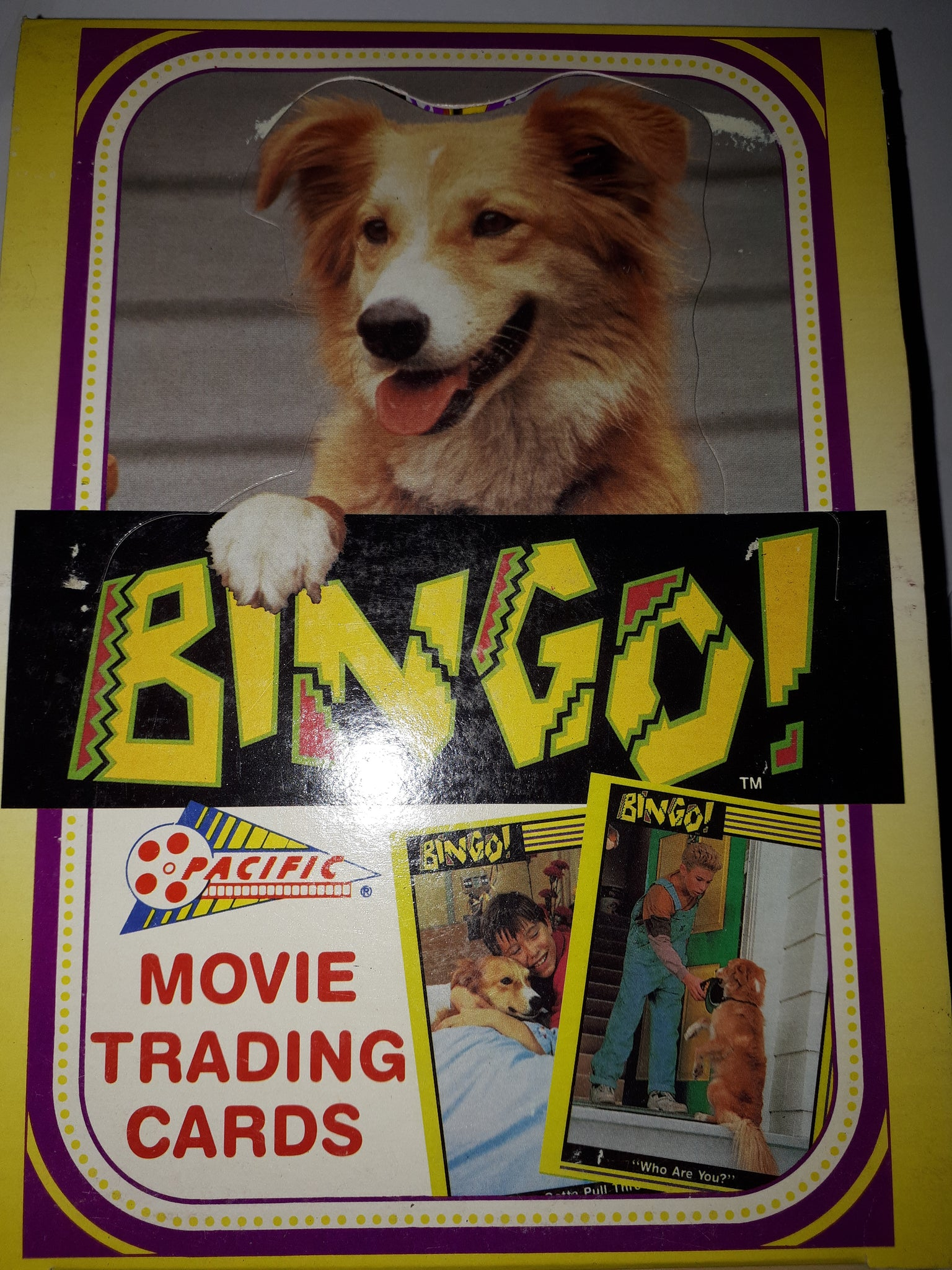 1991 Bingo Movie Trading Card Box 36 Packs 10 Cards In Each Pack By Pacific