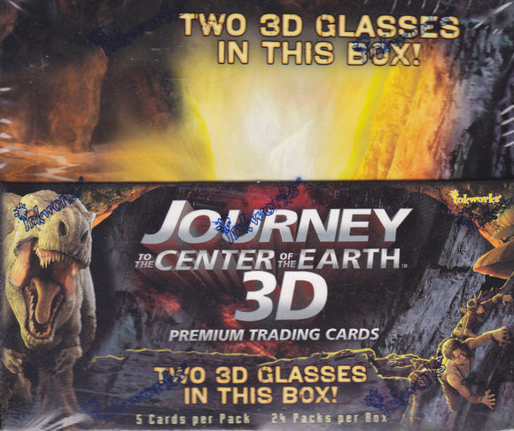 Journey To The Center Of The Earth 3D Factory Sealed 24 Pack box - 1 Pieceworks per box!