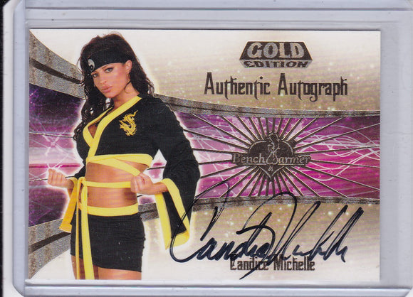 Candice Michelle 2007 Benchwarmer Gold Autograph card # 3 of 30
