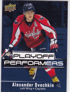 Alexander Ovechkin 2009-10 Upper Deck Playoff Performers card PP1