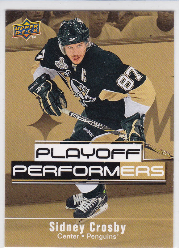 Sidney Crosby 2009-10 Upper Deck Playoff Performers card PP13