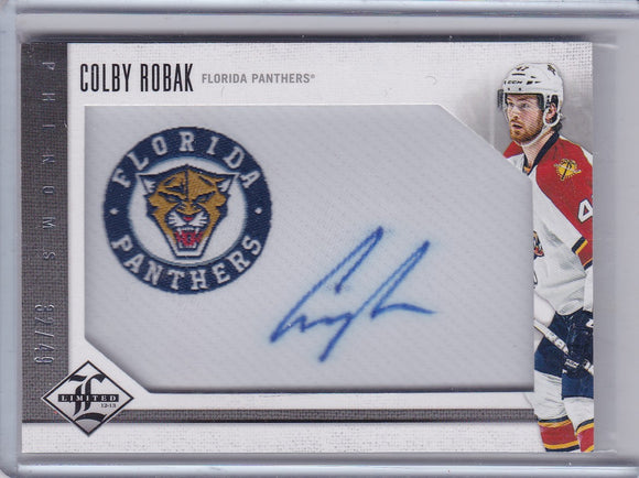 Colby Robak 2012-13 Limited Phenoms Autograph card 212 #d 32/49