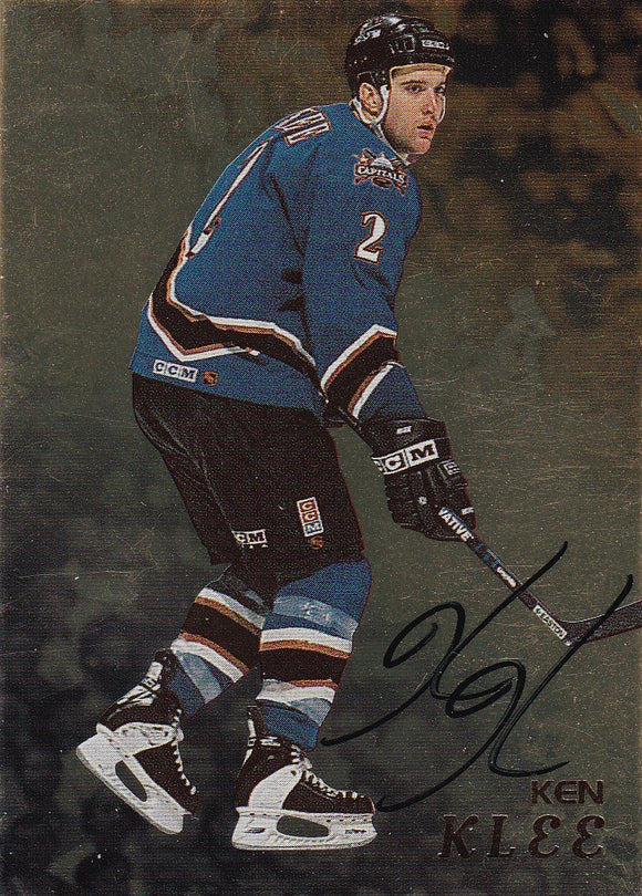 Ken Klee 1998-99 Be A Player Gold Autograph card # 149