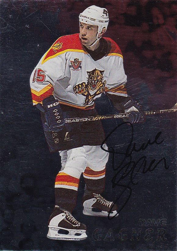 Dave Gagner 1998-99 Be A Player Autograph card # 57