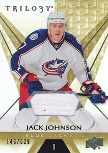 Jack Johnson 2016-17 Trilogy Jersey card #47 #d 143/629