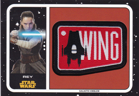 Star Wars Journey To The Last Jedi Rey A Wing Patch card MP-RE