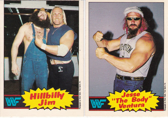 1985 Topps WWF Wrestling Series 1 cards choose your numbers from the list