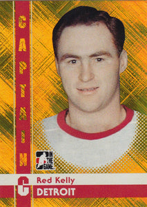 Red Kelly 2011-12 ITG Captain C card # 67 Gold Parallel