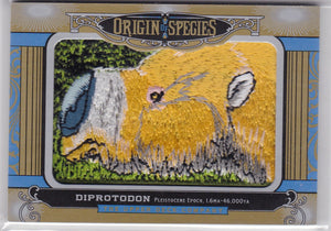 2016 Goodwin Champions Origin Of The Species Patch card OS234 Diprotodon