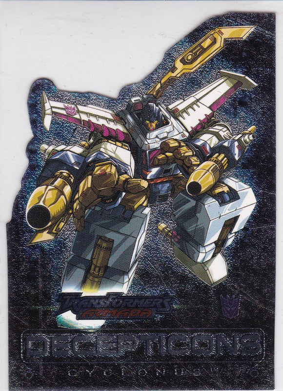 2003 Fleer Transformers Armada Die Cut Foil card 1 of 9 AD Cyclonus