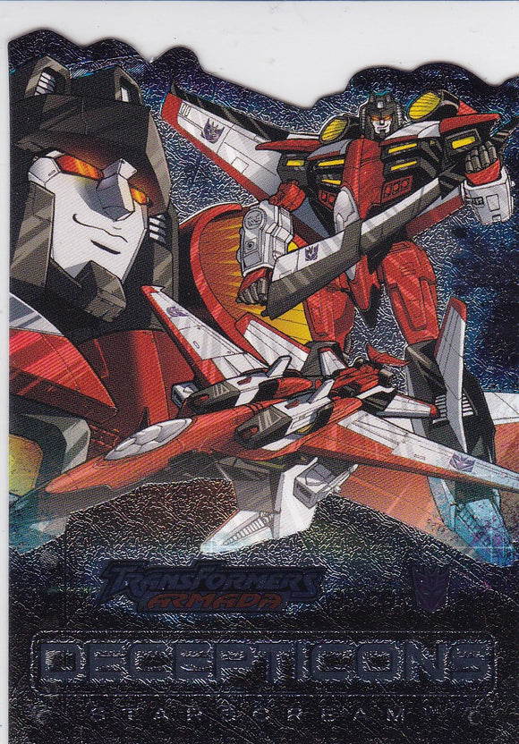2003 Fleer Transformers Armada Die Cut Foil card 3 of 9 AD Starscream