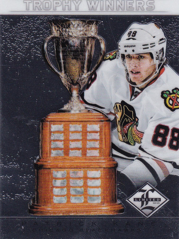 Patrick Kane 2012-13 Limited Trophy Winners card TW-8 #d 087/199