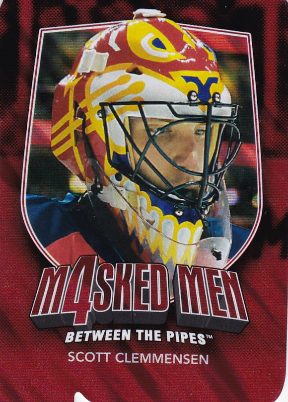 Scott Clemensen 2011-12 Between The Pipes Masked Men 4 card MM-12 Ruby