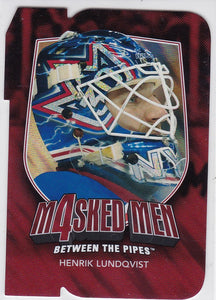 Henrik Lundqvist 2011-12 Between The Pipes Masked Men 4 card MM-27 Ruby