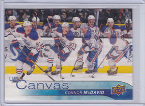 Connor Mcdavid 2016-17 Upper Deck UD Canvas card C35