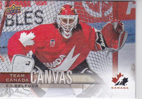 Ed Belfour 2017-18 UD Canadian Tire Team Canada Canvas card TCC-35