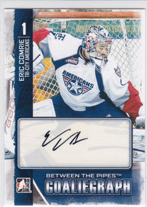 Eric Comrie 2013-14 Between The Pipes GoalieGraph Autograph card A-EC