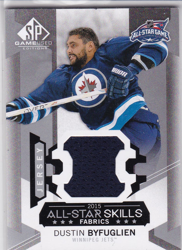 Dustin Byfuglien 2015-16 SP Game Used All-Star Skills Jersey card AS-18