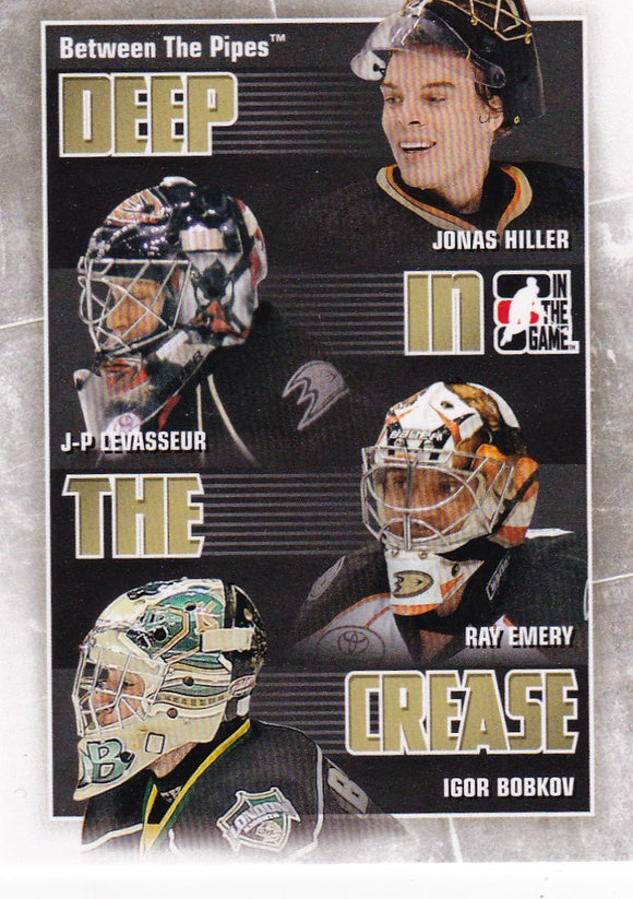 2010-11 Between The Pipes Deep In The Crease card DC-01 Anaheim