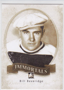 Bill Beveridge 2013-14 Between The Pipes Immortals card I-20