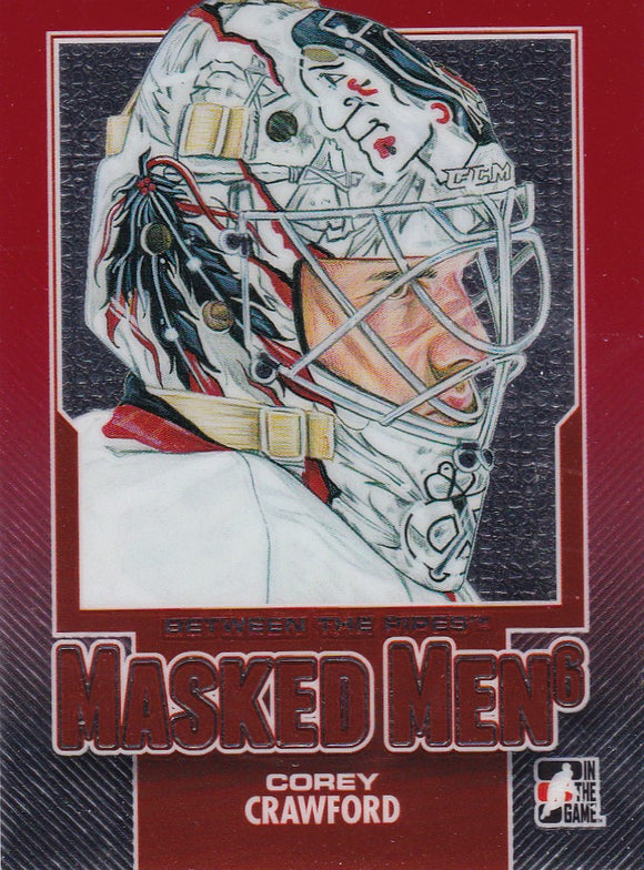 Corey Crawford 2013-14 Between The Pipes Masked Men 6 card MM-02