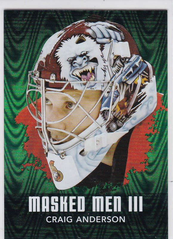 Craig Anderson 2010-11 Between The Pipes Masked Men 3 card MM-13 Emerald