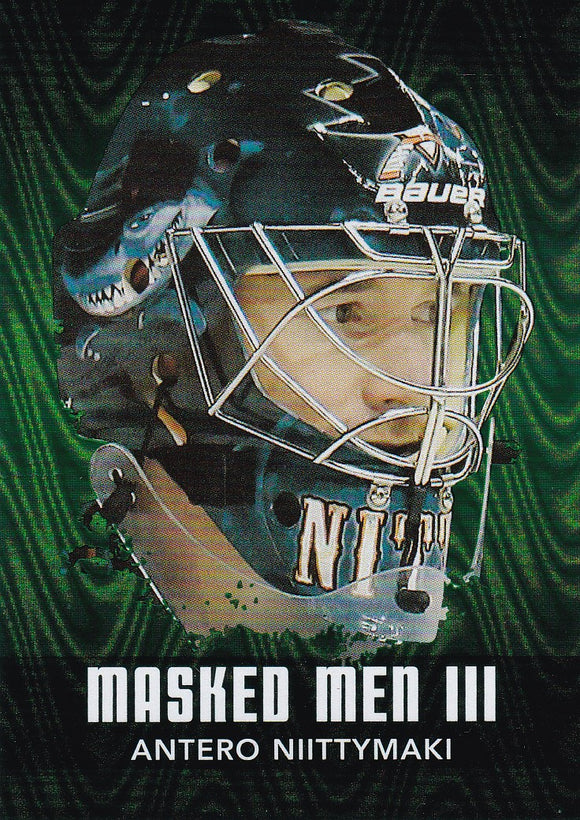 Antero Niittymaki 2010-11 Between The Pipes Masked Men 3 card MM-03 Emerald